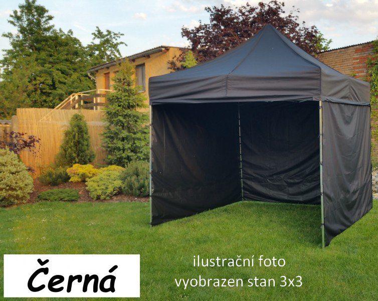Záhradný párty stan PROFI STEEL 3 x 6 - čierna