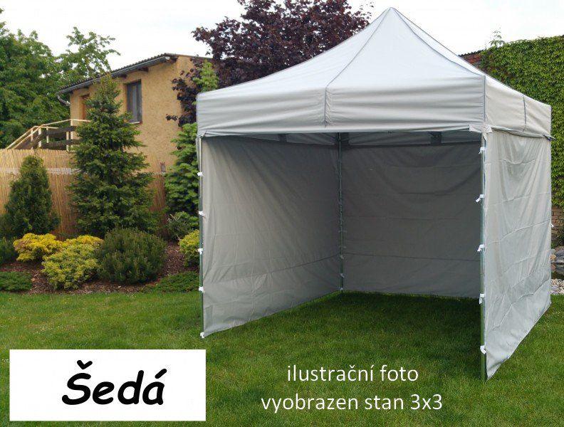 Záhradný párty stan PROFI STEEL 3 x 6 - sivá