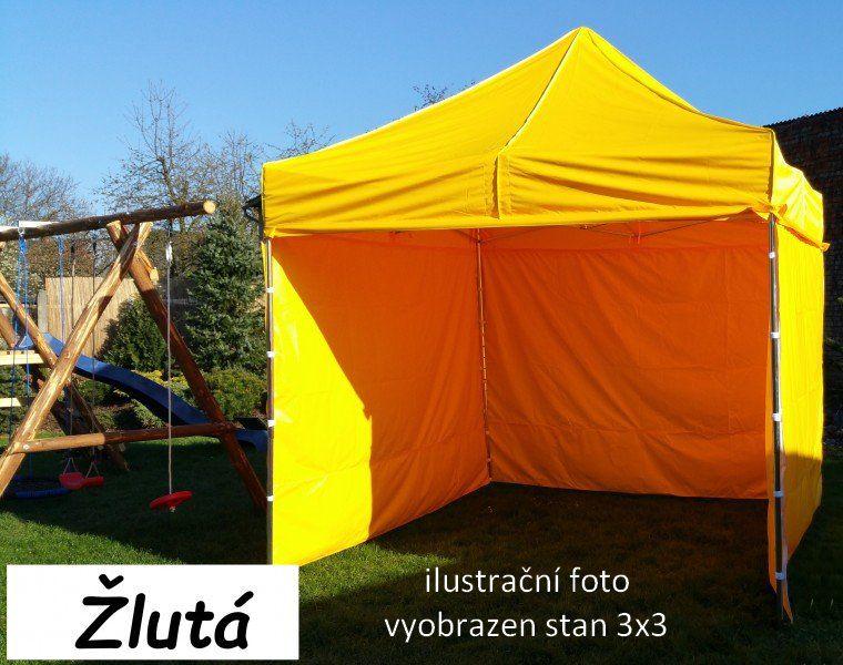 Záhradný párty stan PROFI STEEL 3 x 6 - žltá