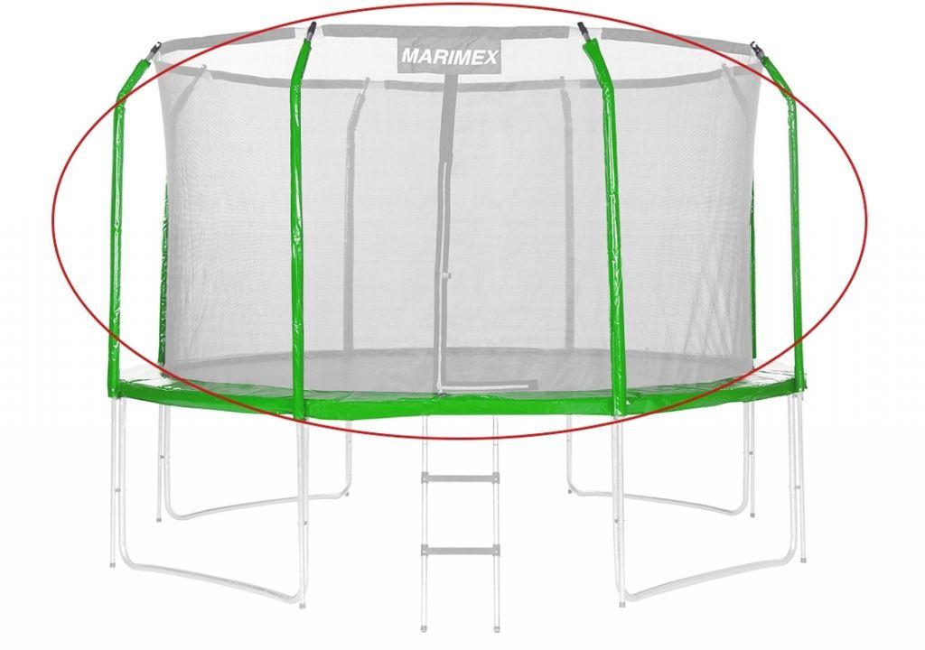 Sada krytov pružín a rukávov na trampolínu - zelená, 244 cm