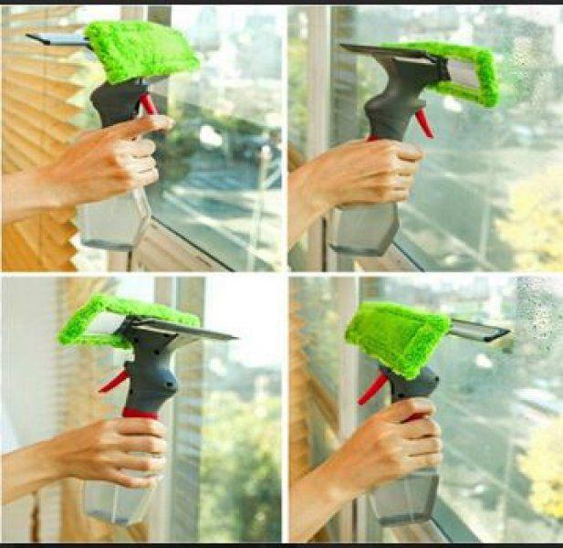 Čistič na okná so sprejom