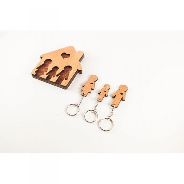 Domeček na klíče - Rodinka (3 osoby)