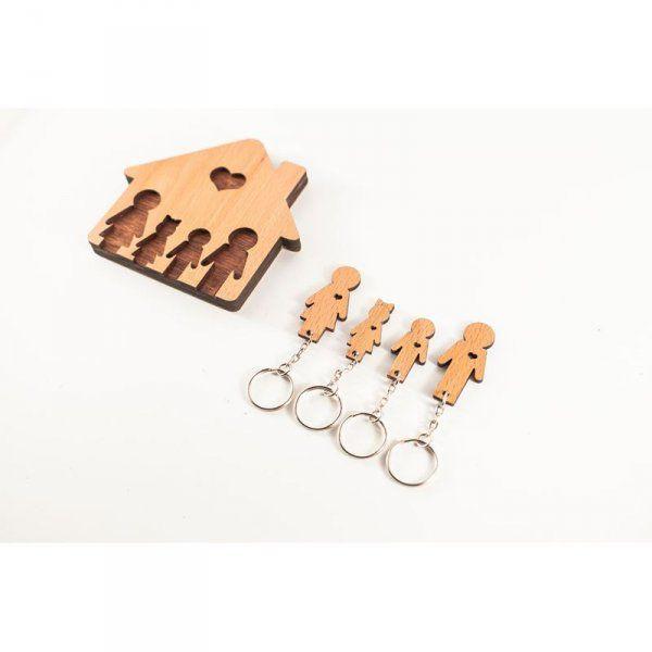 Domeček na klíče - Rodinka (4 osoby)