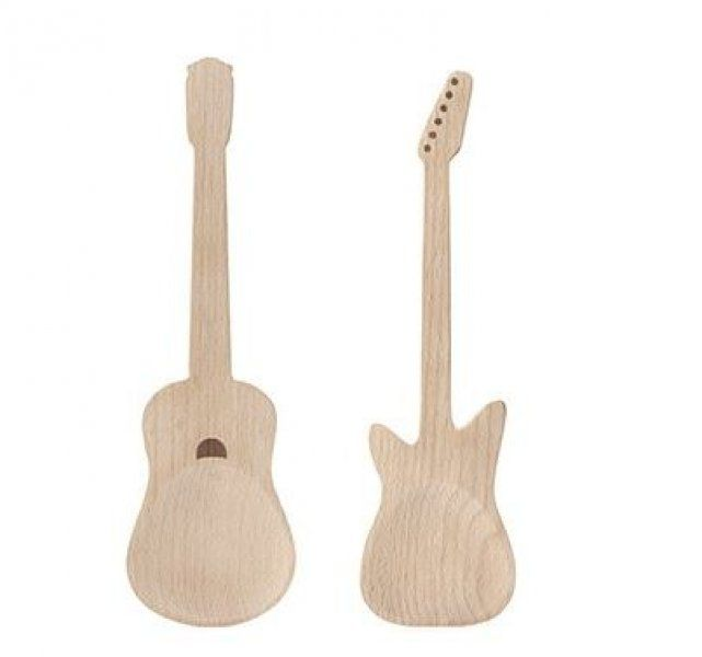 Dřevěné náčiní na salát - kytary