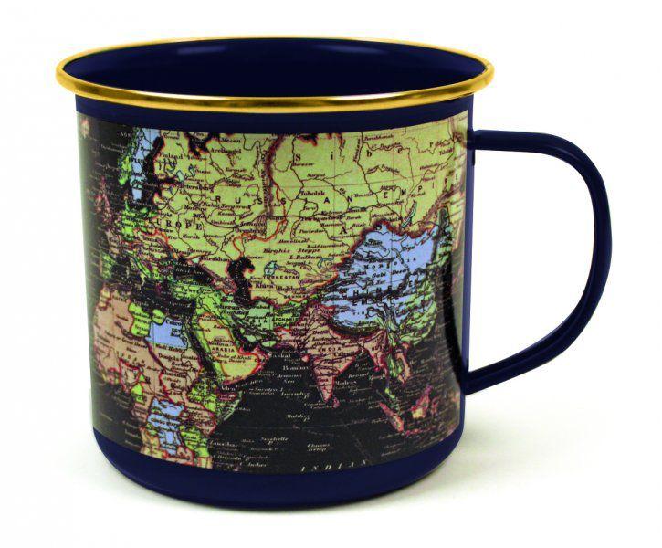 Plecháček s mapou světa - luxusní tmavý