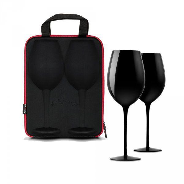 Slavnostní obří sklenice na víno - 2ks v dárkovém pouzdu