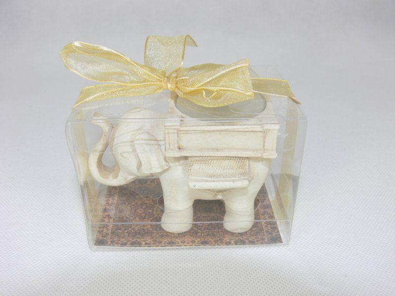 Stojan na svíčku - Slon pro štěstí