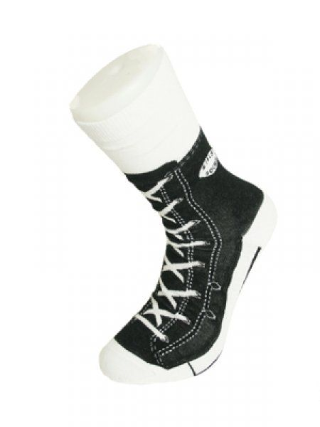 Bláznivé ponožky - basket - čierna