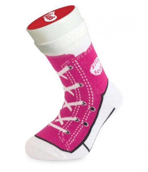 Detské bláznivé ponožky Basketbalista ružové