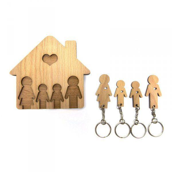 Domeček na klíče - Rodinka (4 osoby) - Dva synové