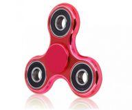 Fidget Spinner s metalickou barvou - Červená