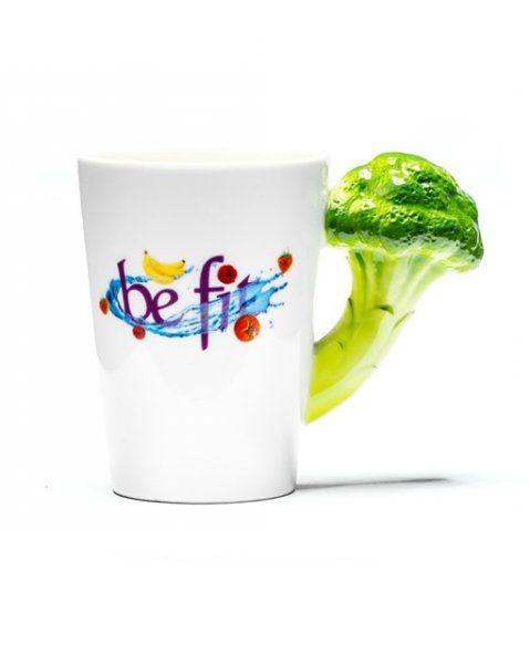 Hrnek buď FIT  - Hrnek buď FIT – brokolice