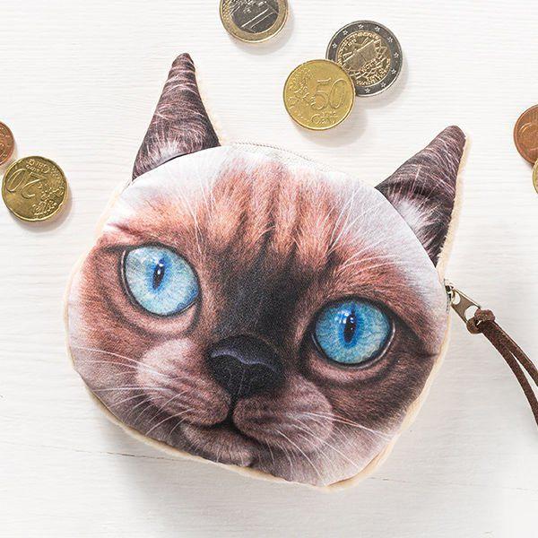 Kočičí peněženka na drobné - model 1