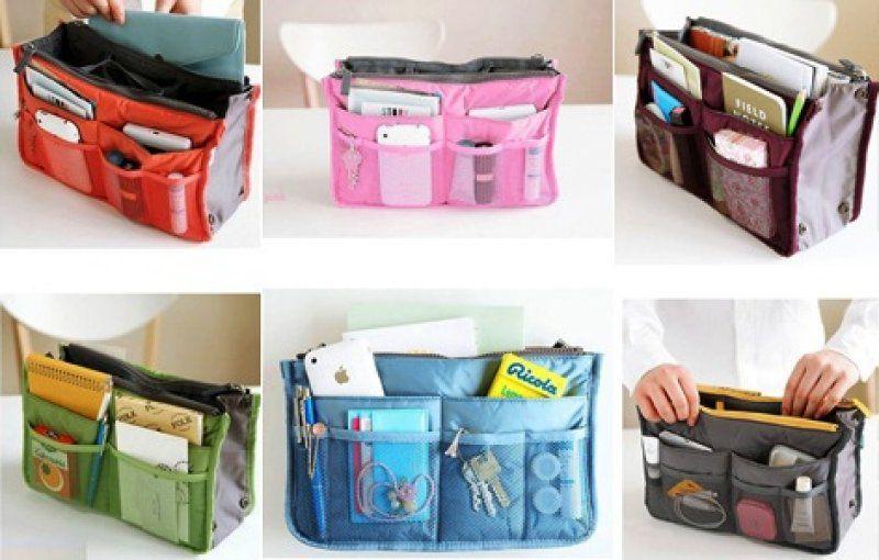 Organizér do kabelky - šedá