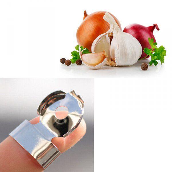 Prstový rychlo loupač na česnek a zeleninu