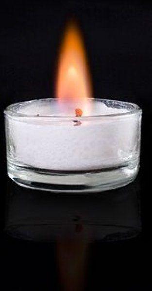 Romantické čajové svíčky - Oranžová