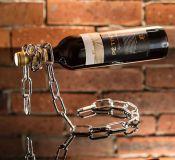 Řetězový držák na víno - Originální balení