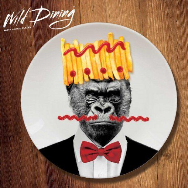 Talíře Wild Dining - Gorila