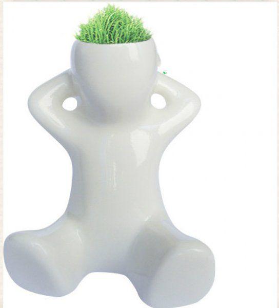 Travňák - květináč - figurka