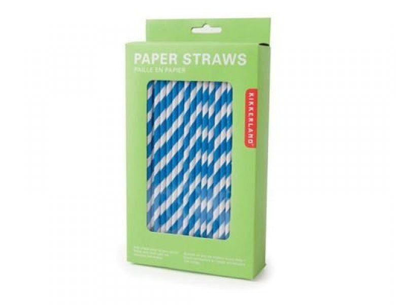 Papierové slamky - modré