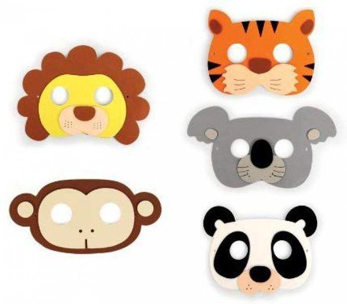 Párty maska - džungľa