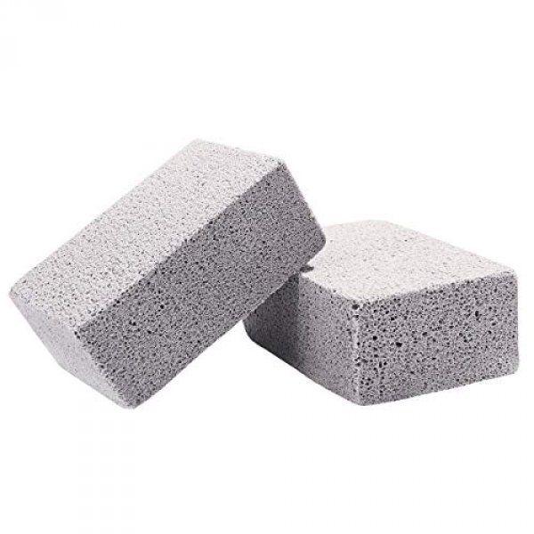 Čistiaci kameň pred a po grilovaní