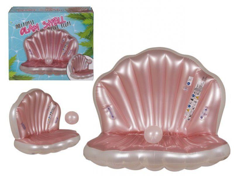 Nafukovacie lehátko - mušľa s perlou