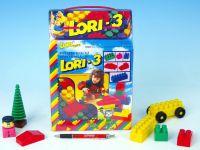 Stavebnice LORI 3 plast 50ks v krabici 19x28x10cm