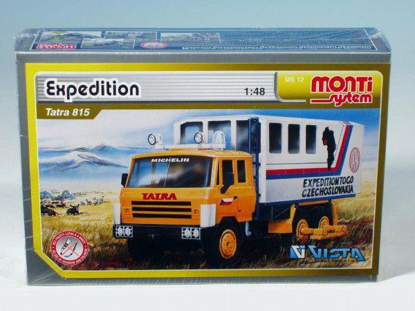 Stavebnice Monti 12 Expedice Tatra 815 1:48 v krabici 22x15x6cm