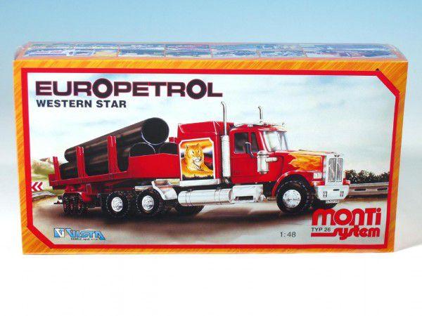 Stavebnice Monti 26 Europetrol Western star 1:48 v krabici 32x20,5x7,5cm