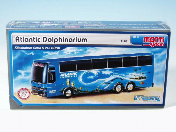 Stavebnice Monti 50 Atlantic Delfinarium Bus 1:48 v krabici 31,5x16,5x7,5cm