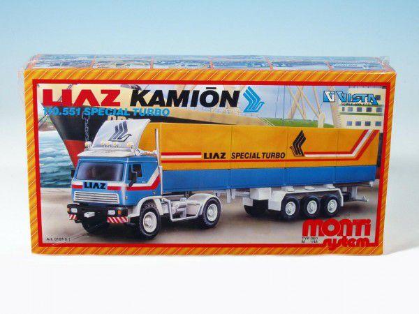 Stavebnice Monti 08/1 Kamion Liaz Special Turbo 1:48 v krabici 31,5x16,5x7,5cm