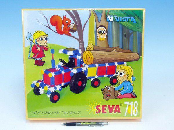 Stavebnice Seva plast 718ks v krabici 35x33x8cm