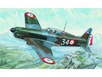 Model Morane Saulnier MS 406 11x14,7cm v krabici 25x14,5x4,5cm