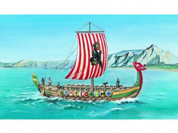 Model Viking Vikingská loď DRAKKAR 1:60 20,8x30,3cm v krabici 34x19x5,5cm