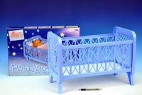 Postýlka pro panenky bez soupravy plast 32x47x26cm v krabici