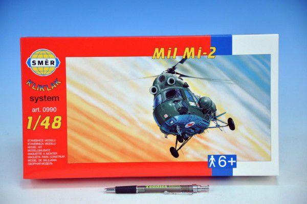 Model Kliklak Vrtulník Mil Mi-2 27,6x30cm v krabici 34x19,5x5,5cm