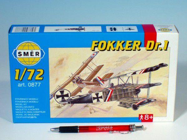 Model Fokker DR.1 1:72 8,01x9,98cm v krabici 25x14,5x4,5cm