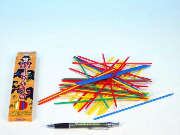 Mikádo společenská hra plast 41ks v krabičce 4,5x20x1cm