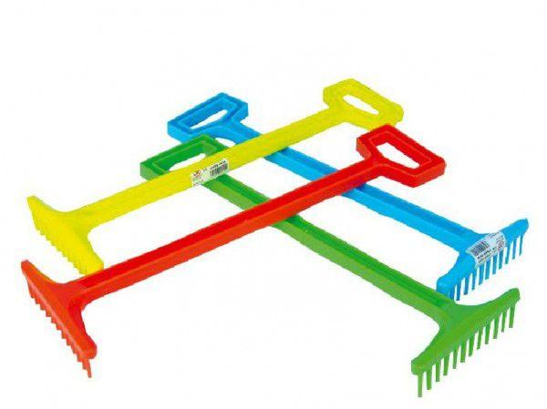 Hrábě plast 43,5cm asst 4 barvy nářadí