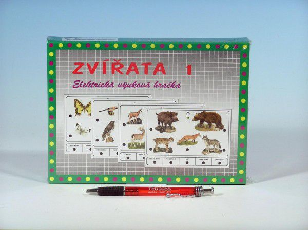 Zvířata 1 společenská hra na baterie v krabici 22x16x3cm