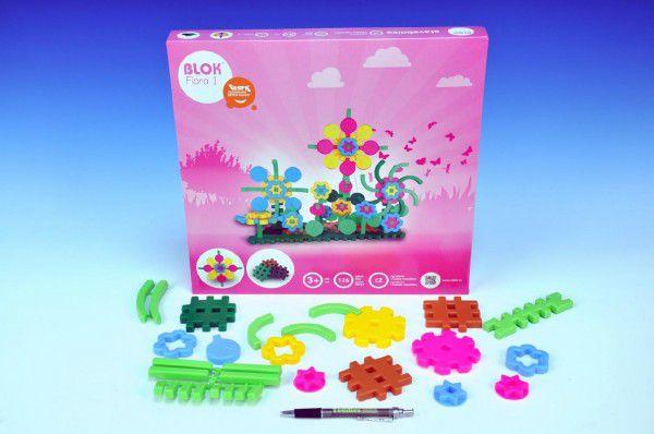 Stavebnice Blok Flora 1 126ks v krabici 35x33,5x3,5cm