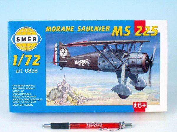 Model Morane Saulnier MS 225 1:72 9,2x15,4cm v krabici 25x14,5x4,5cm