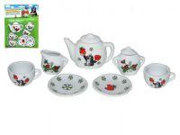Nádobí - čajový set Krtek porcelán na kartě 17x24x3cm
