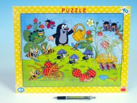Puzzle deskové Krtek v jahodách 37x29cm 40 dílků