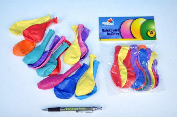 Balonek nafukovací 10cm 15ks v sáčku karneval