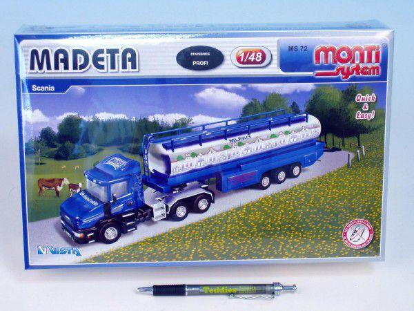 Stavebnice Monti 72 Madeta Scania 1:48 v krabici 32x20,5x7,5cm