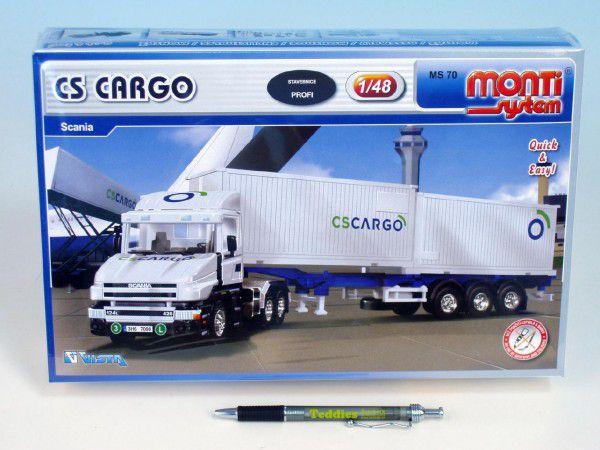 Stavebnice Monti 70 CS CARGO Scania 1:48 v krabici 32x20,5x7,5cm