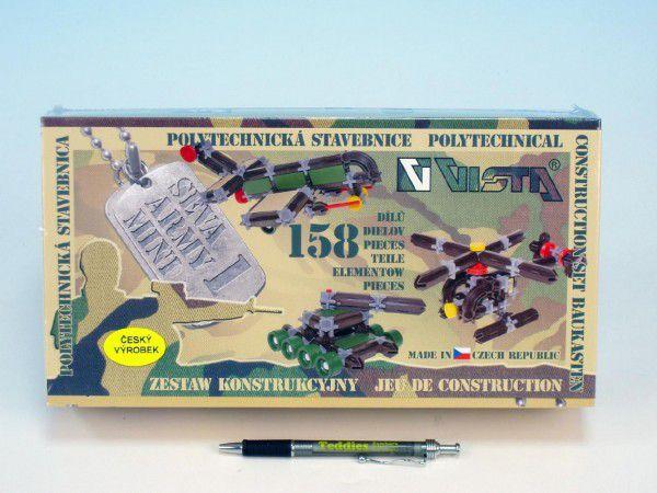 Stavebnice Seva Army mini 1 plast 158ks v krabici 31,5x16,5x7,5cm