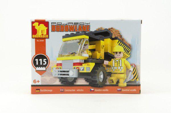 Stavebnice Dromader Auto Sklápěč 29401 115ks v krabici 22x15x4,5cm